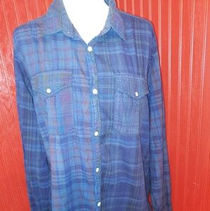 Woolrich Cotton Plaid Shirt XL
